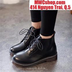 Giày bốt nữ nữ cổ cao giá rẻ màu đen