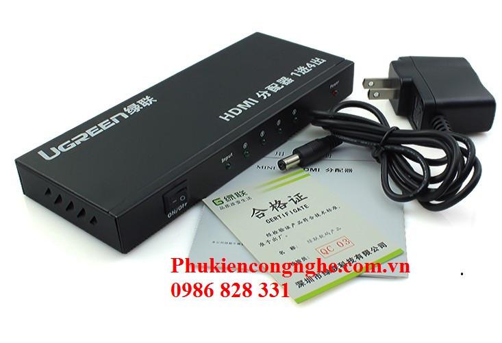 Bộ chia HDMI 1 ra 4 full HD Chính hãng Ugreen UG-40202 3
