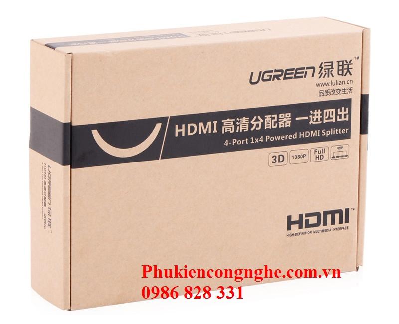 Bộ chia HDMI 1 ra 4 full HD Chính hãng Ugreen UG-40202 1