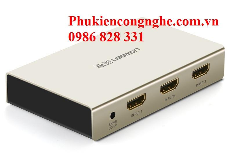 Bộ gộp HDMI 3 vào 1 ra hỗ trợ 4k x 2k chính hãng Ugreen UG-40278 1