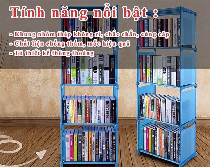 Giá để sách 4 tầng lắp ghép thông minh 5