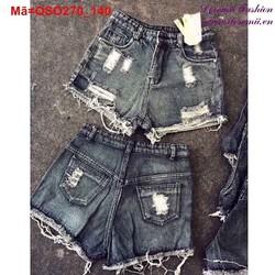 Quần short Jean nữ rách bụi bặm cá tính QSO270