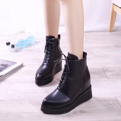 B361 - Giày Boot Nữ Đế Cao Cá Tính