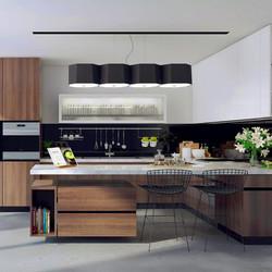 Tủ bếp Laminate có bàn đảo phòng bếp lớn