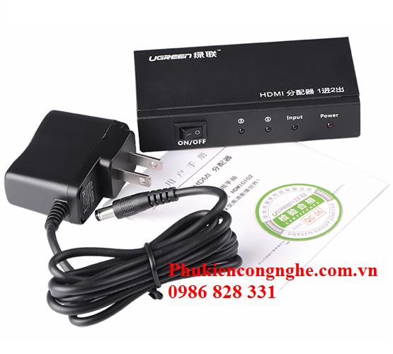 Bộ chia HDMI 1 ra 2 full HD Chính hãng Ugreen UG-40201 4