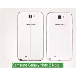 Ốp Lưng Samsung Galaxy Note 2 Dẻo Silicon Trong Suốt