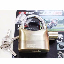 Ổ khóa chống cắt trộm cao cấp kinbar có còi báo động