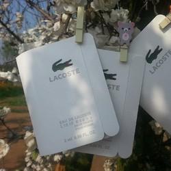 Sét  2 Sample Nước hoa Vial Lacoste Blanc 2ml