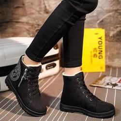 B05D - Giày bốt nữ cá tính, năng động , phong cách Hàn Quốc
