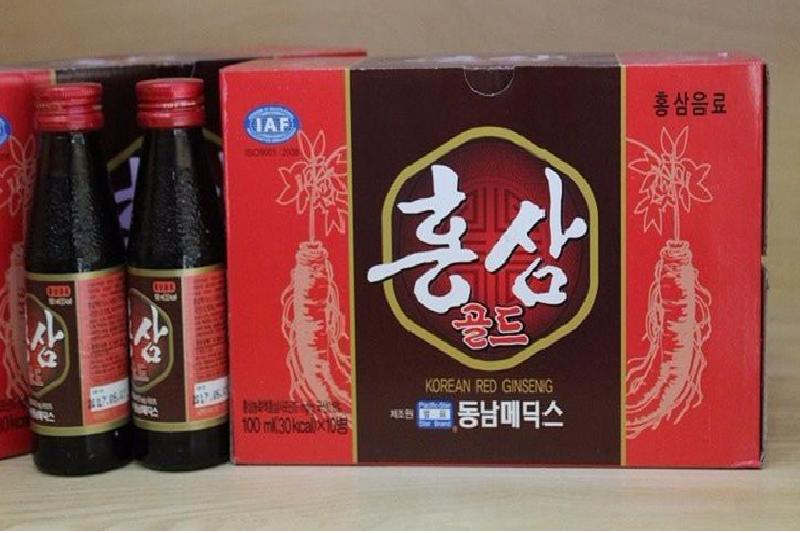 Nước hồng sâm chai nhỏ 100ml hộp 10 chai Dongnam Medical 1