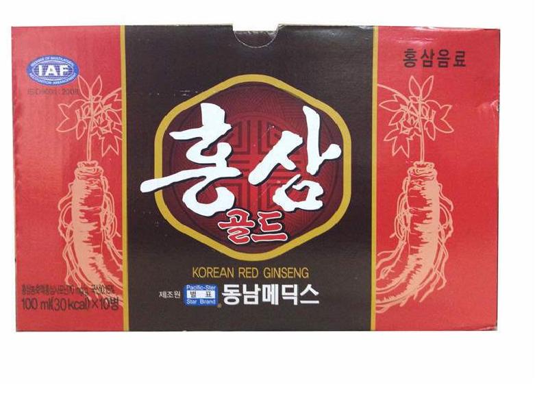 Nước hồng sâm chai nhỏ 100ml hộp 10 chai Dongnam Medical 2
