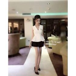 Set vest áo vest phối váy xếp ly - 5978.SETZO