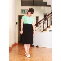 Đầm bầu thiết kế phối màu