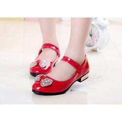 Giày búp bê nơ đỏ Hàn Quốc mừng Noel và năm mới