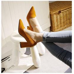 Giày bít gót vuông hàng cao cấp - Giá Cực Sốc