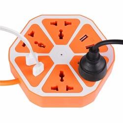 Ổ cắm điện đa năng lục giác có cổng USB