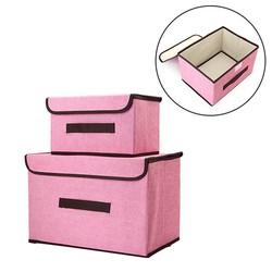 Combo 2 hộp vải khung cứng đựng đồ đa năng