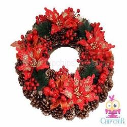 Vòng Hoa Trang Trí Noel Lớn