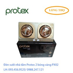 Đèn sưởi nhà tắm Protex 2 bóng vàng PX02