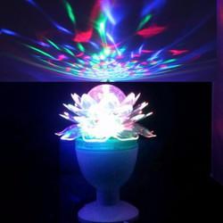 đèn led xoay 7 màu hoa sen