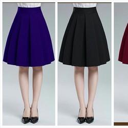 Chân váy xòe thời trang có 2 túi - V04116