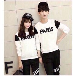 áo thun tay dài nam nữ Paris