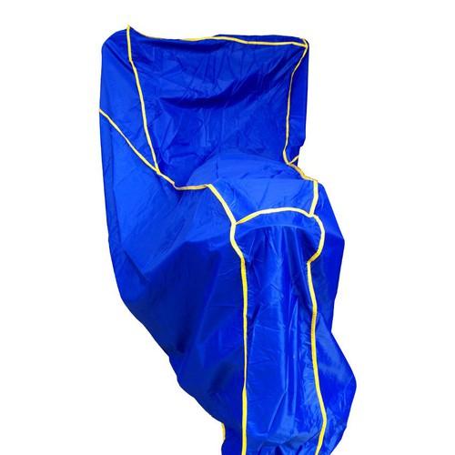Áo trùm xe máy vải dù che mưa che nắng cỡ lớn  -Xanh dương Viền vàng