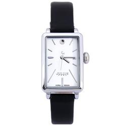 Đồng hồ nữ dây da Hàn Quốc JU1151 Đen trắng - Thương Hiệu