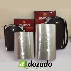 Bình rươu inox dập nổi CCCP cao cấp 2 Lít