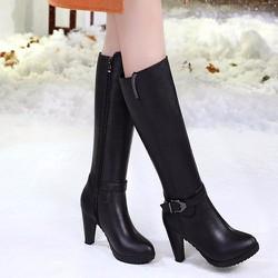 B066 - Giày Boot Nữ Cổ Cao Cá Tính