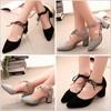 Giày Gót vuông cột dây đơn