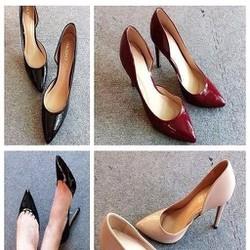 Giày cao gót nữ khoét 1 bên sành điệu trẻ trung GCN255