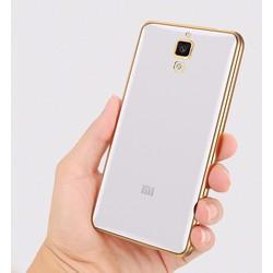 Ốp lưng Mi 4 silicon mạ vàng