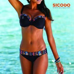Bikini viền phổ cẩm mạnh mẽ