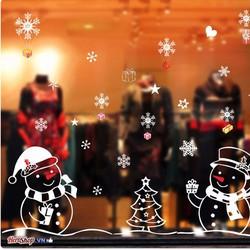 Decan Dán Kính Dán Tường Trang Tri Noel Người Tuyết