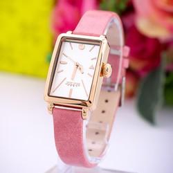 Đồng hồ nữ dây da Hàn Quốc JU1151 Hồng - Thương Hiệu
