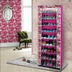 Tủ vải đựng giày dép 9 tầng hoa văn