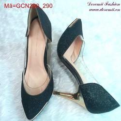 Giày cao gót mũi nhọn ánh kim tuyến sành điệu GCN290