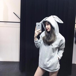 Áo khoác nỉ tai thỏ