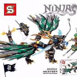 Mô hình lắp ghép ninja rồng xanh xám