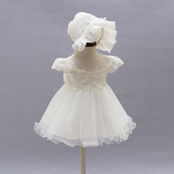 Đầm công chúa D039 - gồm váy và mũ cho bé
