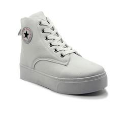 Giày bata cổ cao đế bánh mì nữ K8029