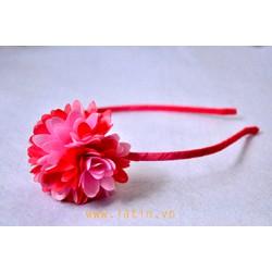 Cài tóc hoa ru băng màu hồng