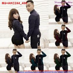 Áo khoác kaki cặp tình nhân hình ngôi sao sành điệu AKC244