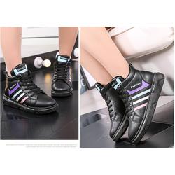 Giày sneaker nữ cổ cao phong cách Hàn Quốc BGT111