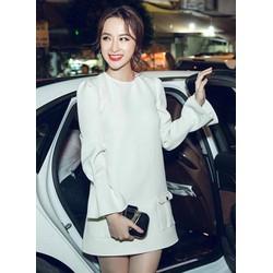 Đầm suông màu trắng đẹptay loe Angela Phương Trinh M31112
