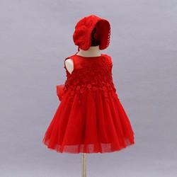 Đầm công chúa D033 - gồm váy và mũ cho bé