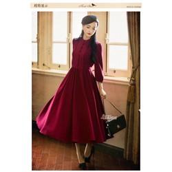 Đầm xoè vintage viền ren nhẹ nhàng xinh iu