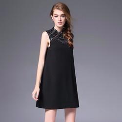 Đầm suông dạ hội đính dá thời trang cao cấp 2016 - T5800