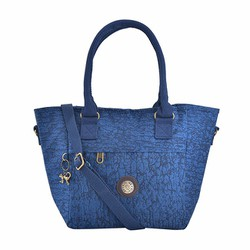 Túi xách Kipling vải wax màu xanh đen